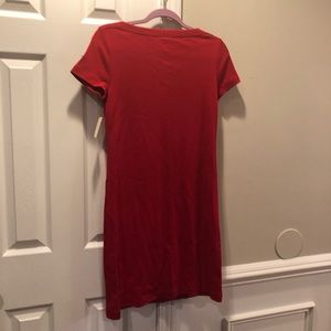 Talbots Dresses - Talbots Red 4th of July knit dress boat neck line